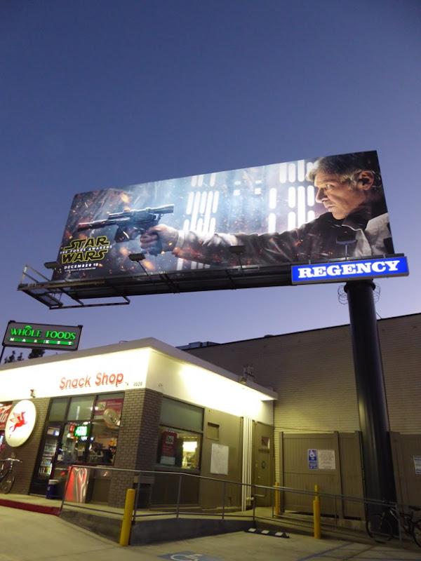 Star Wars Force Awakens Han Solo billboard