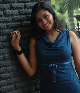 Tamil Television Serial and Cinema Actress Neelima Rani Recent Picture Gallery in Sleeveless Blue Dress