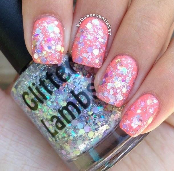 Marshmallow ABC's Glitter Topper Nail Polish By Glitter Lambs