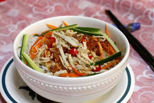 Vietnamese Noodle Recipes - Bún Bì