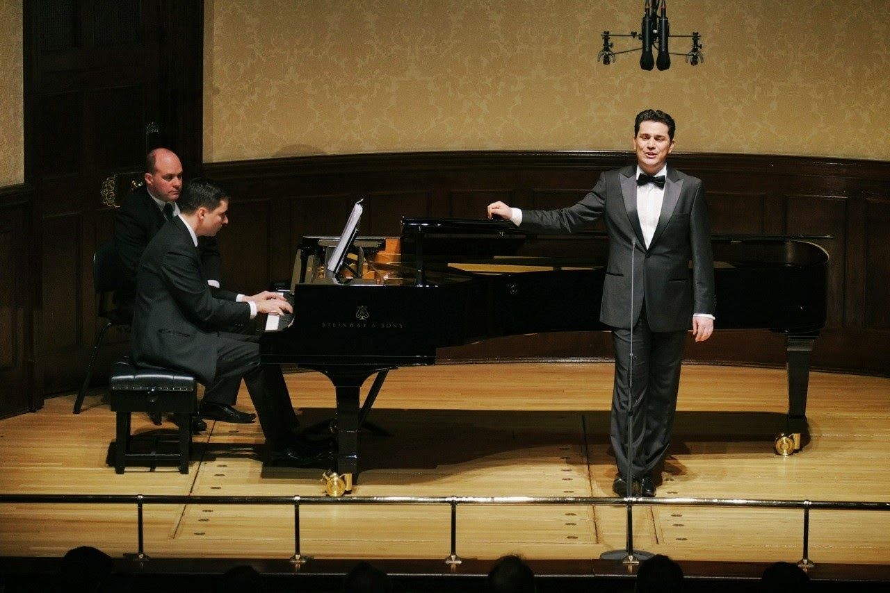 Simon Lepper and Saimir Pirgu at the Wigmore Hall - picture credit Jonathan Rose