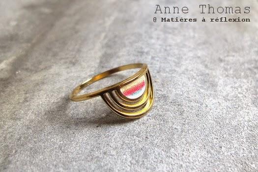 Bijoux Anne Thomas bague graphique Sunset