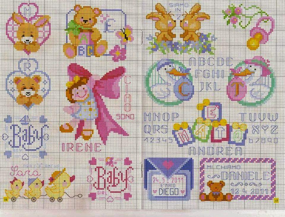 Punto croce per i bambini la mia passione nuovi schemi for Bambini punto croce schemi