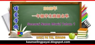 居銮博爱学校 2015年学生班级名单