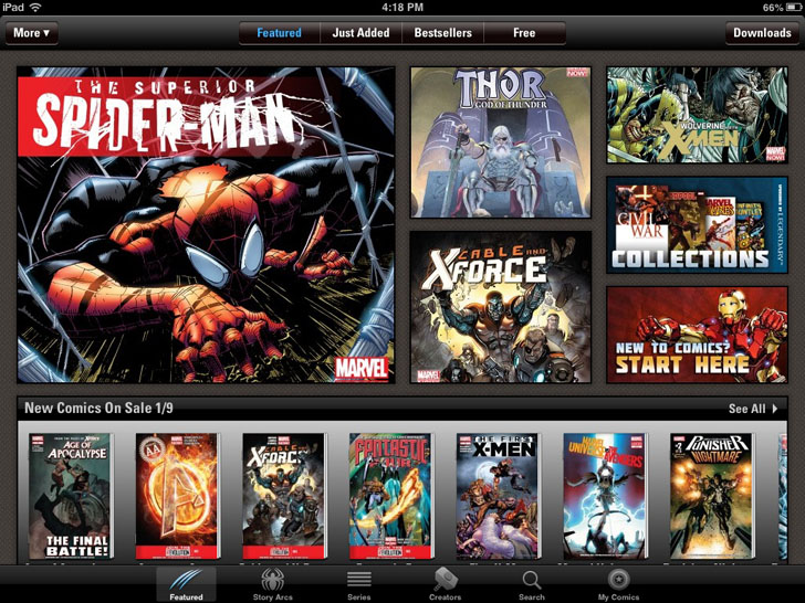 Free Apps For Comic Book Fans - Marvel Comics App iTunes Google Play App By Marvel Entertainment - Toyoverlord.com