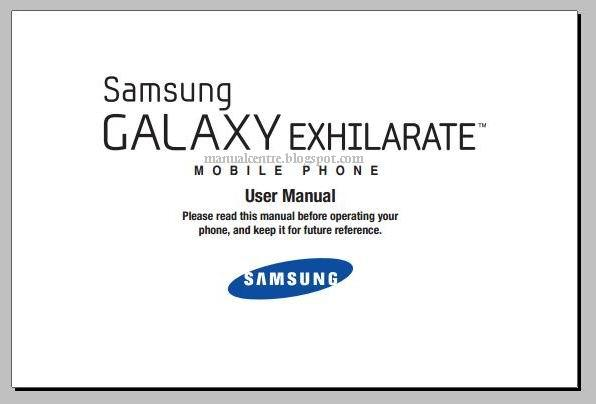 Samsung Galaxy Exhilarate How Manual Guide