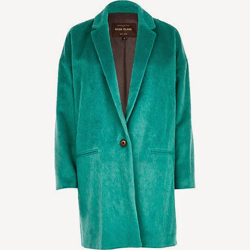 jade green wool coat