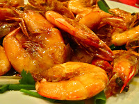 Malaysia, seafood, prawns, shrimp, East Ocean Restaurant, head-on shrimp