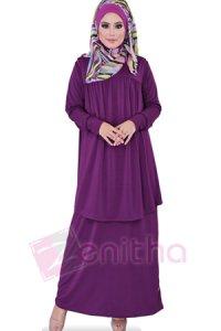 Zenitha Gamis Zn108 - Ungu (Toko Jilbab dan Busana Muslimah Terbaru)