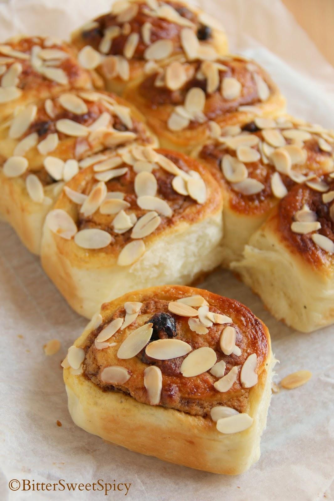 BitterSweetSpicy: Almond Raisin Bread & Cinnamon Rolls