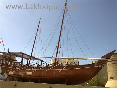 Dhow (boat) in Dubai museum