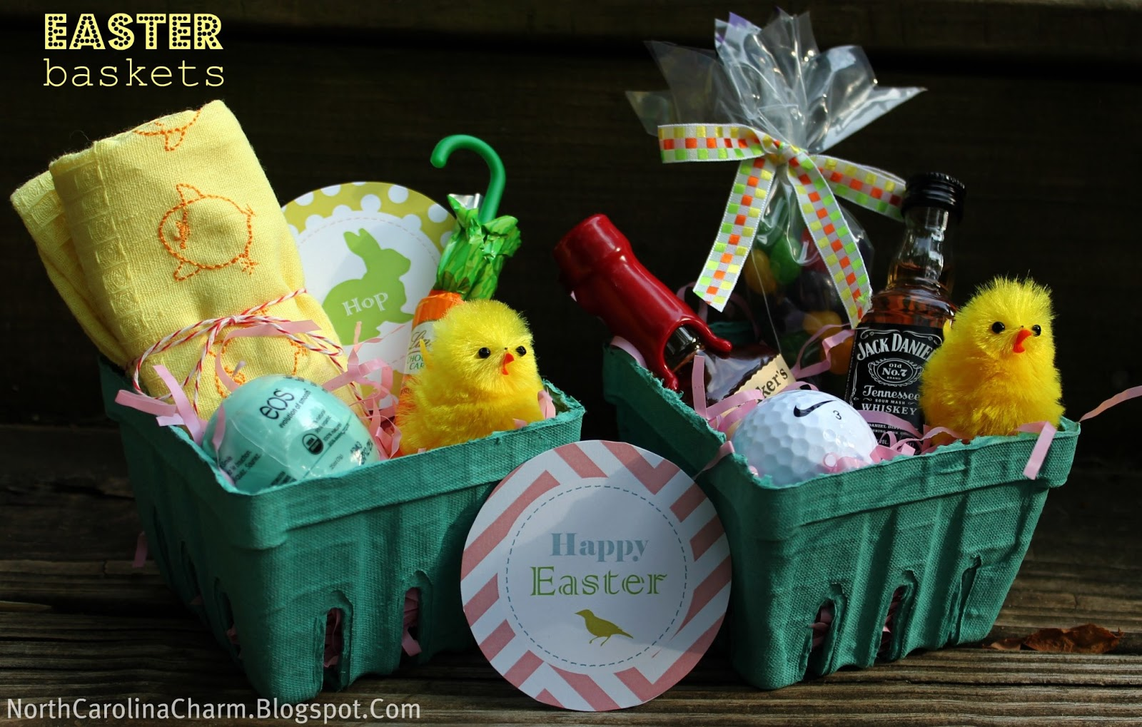 Easter basket blog hop carolina charm and since i am late in the game this year stuffing my easter baskets i am showing off my 2012 baskets negle Images