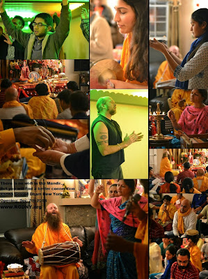 Devotees of Kripaluji Maharaj at Radha Govind Dham New York