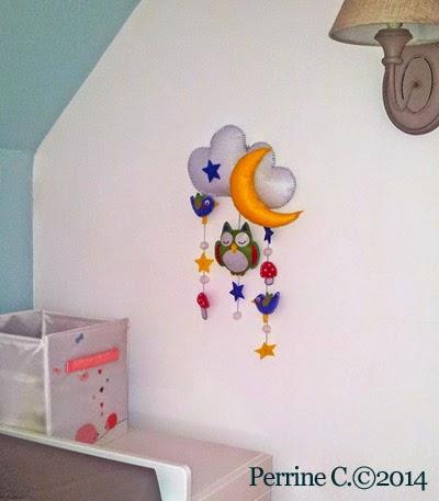 Mobile mural - Chambre bébé