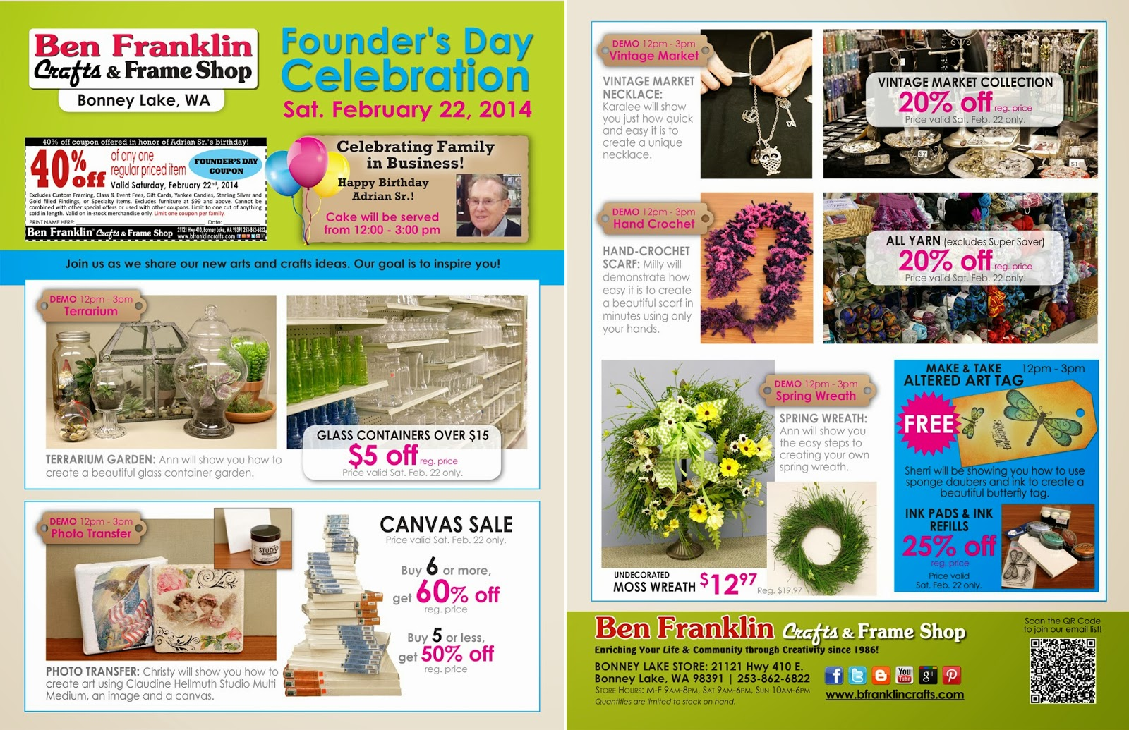 photo relating to Ben Franklin Coupons Printable referred to as Ben Franklin Crafts and Body Keep: Founders Working day Occasion