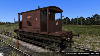 Fastline Simulation - Bonus Stock: A worn dia 1/506 BR 20T brake van from lot 3129 built at Darlington in 1958 and currently fitted with a through vacuum pipe. This version is one of a number of 20T brake vans included in our HBA/HEA hopper wagon expansion pack for Train Simulator 2014 to help add variety and authenticity to the scenarios in the pack.