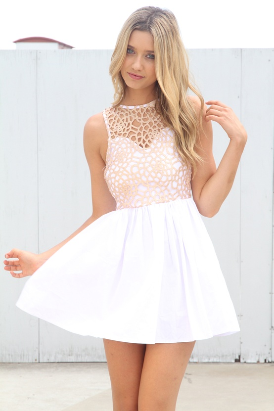 Robe poudre d'or