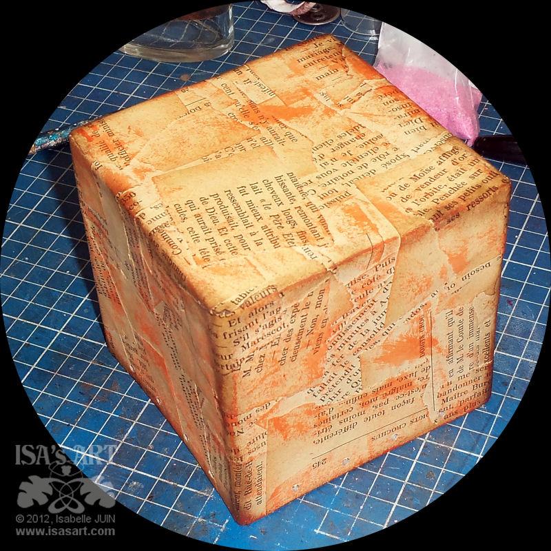 Isa 39 sart crochet cube surprise citrouille - Faire un cube en papier ...