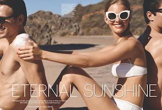 Marloes Horst Enjoying Eternal Sunshine with  Men  Bikini Pics   for Allure  US June 2015