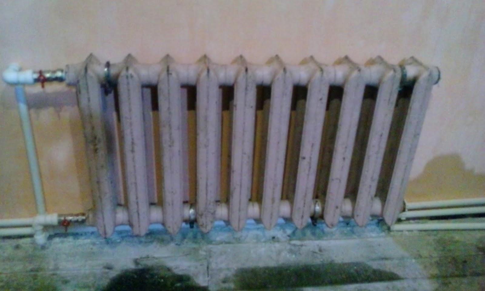 Отопление из чугунных радиаторов своими руками видео