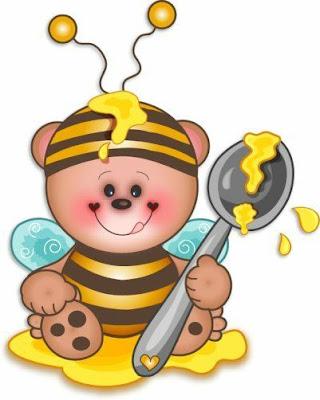 abeja golosa Abejas con miel para imprimir