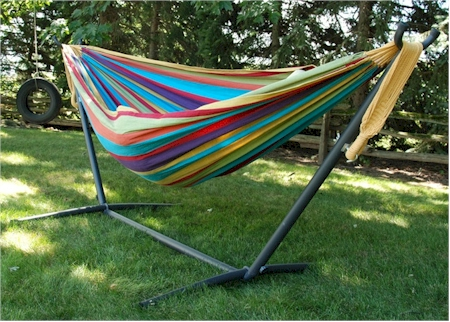 Vivere Double Tropical Hammock WITH Stand For $99.99 With Free Shipping And  Free Returns