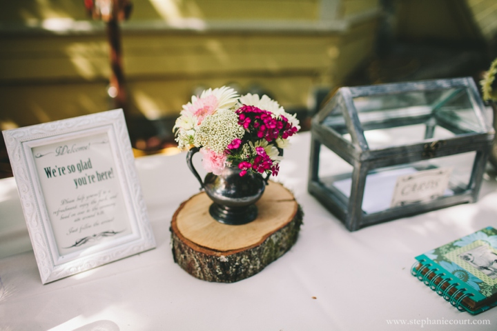 rustic chic wedding centerpieces