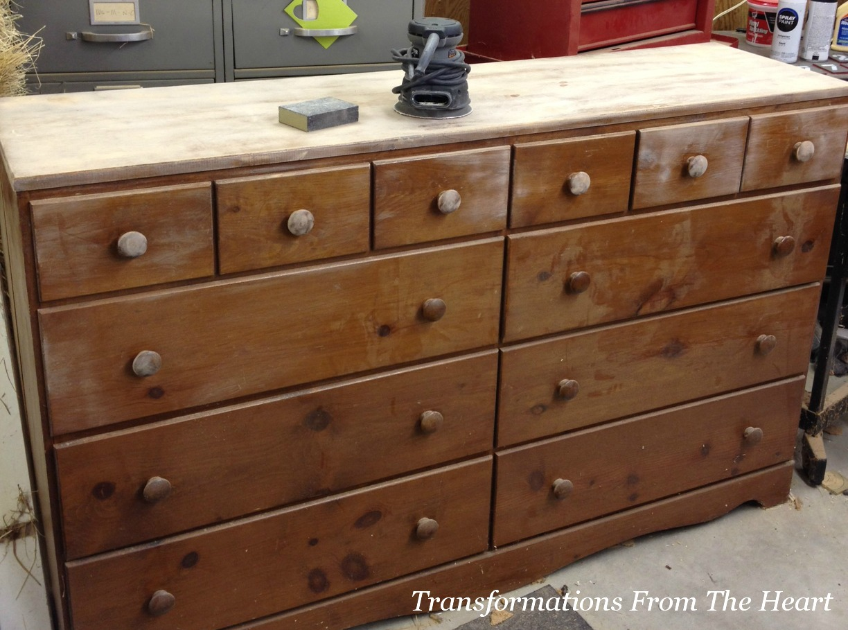 Transformations from the heart an old dresser redo using - Before and after old dressers makeover with a little paint ...
