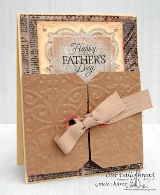 Our Daily Bread Design, Good Man,  Flourished Star Pattern Die, Sunburst Background, layered lacey squares die, vintage ephemera collection