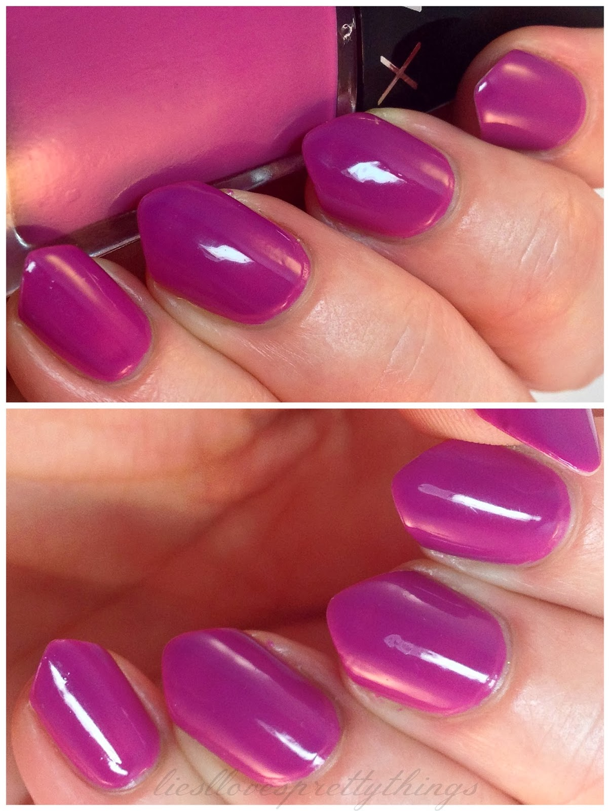 LVX Orchid swatch and review