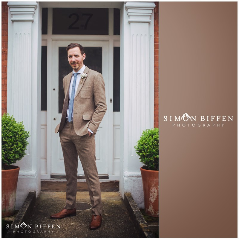 Dapper groom in a tweed suit