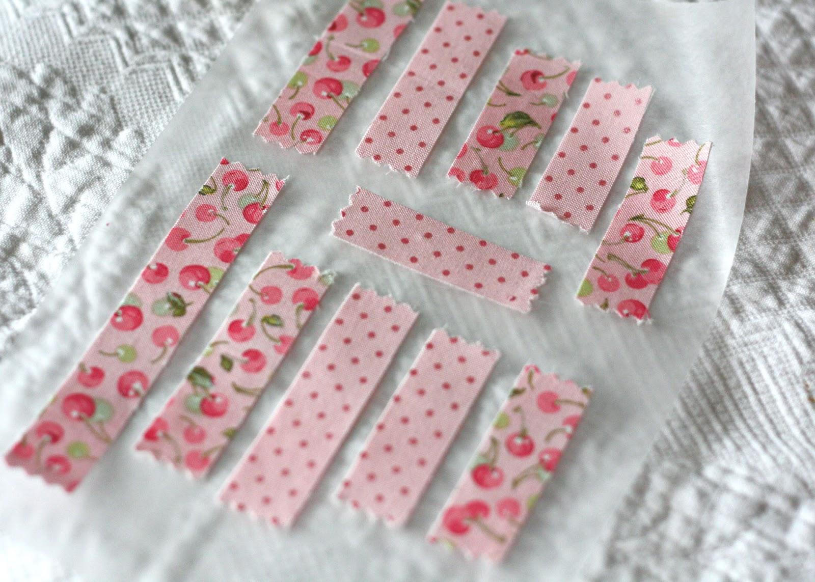 Fabric Washi Tape Strips