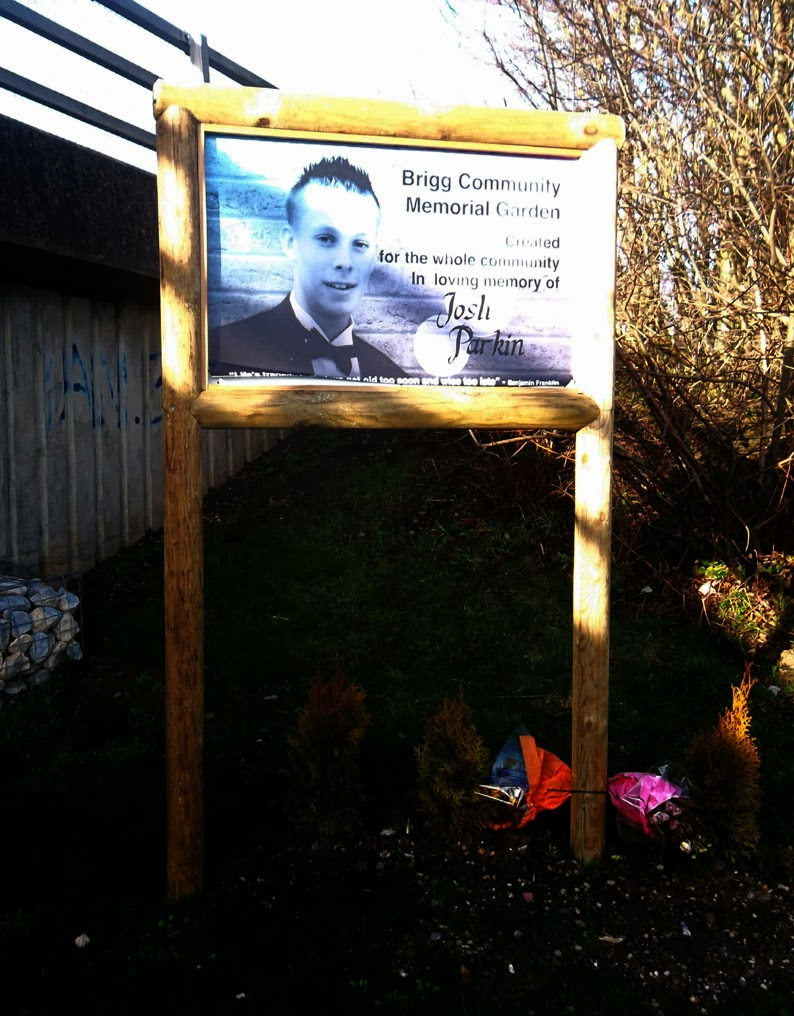 Brigg Community Memorial Garden - remembering Josh Parkin