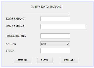 cara membuat program simpan data di netbeans