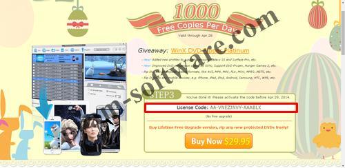 Mendapatkan License Key WinX DVD Ripper Platinum