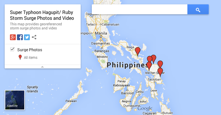 Hagupit/ Ruby Storm Surge Photos and Videos Map