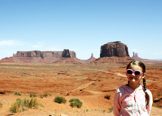 Tessa at Monument Valley Navajo Tribal Park on the border of Arizona and Utah.
