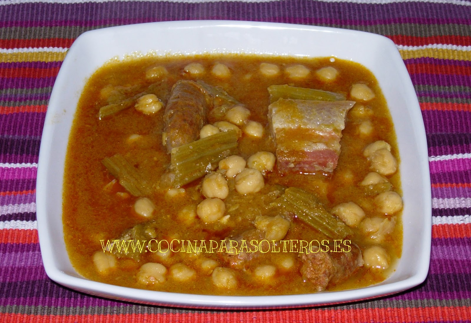 Cocinar Berza | Potaje De Garbanzos Y Cardos Cocina Para Solteros