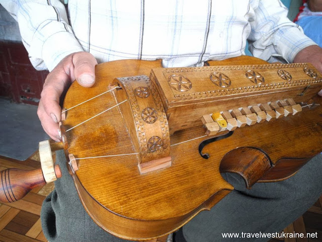 Hurdy Gurdy made by talented musical instrument maker from Ukrainian Carpathians