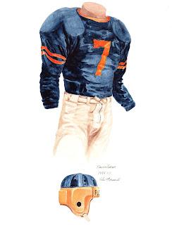 1944 University of Florida Gators football uniform original art for sale