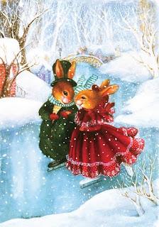 imagens para decoupage de ratos e coelhos natalinos