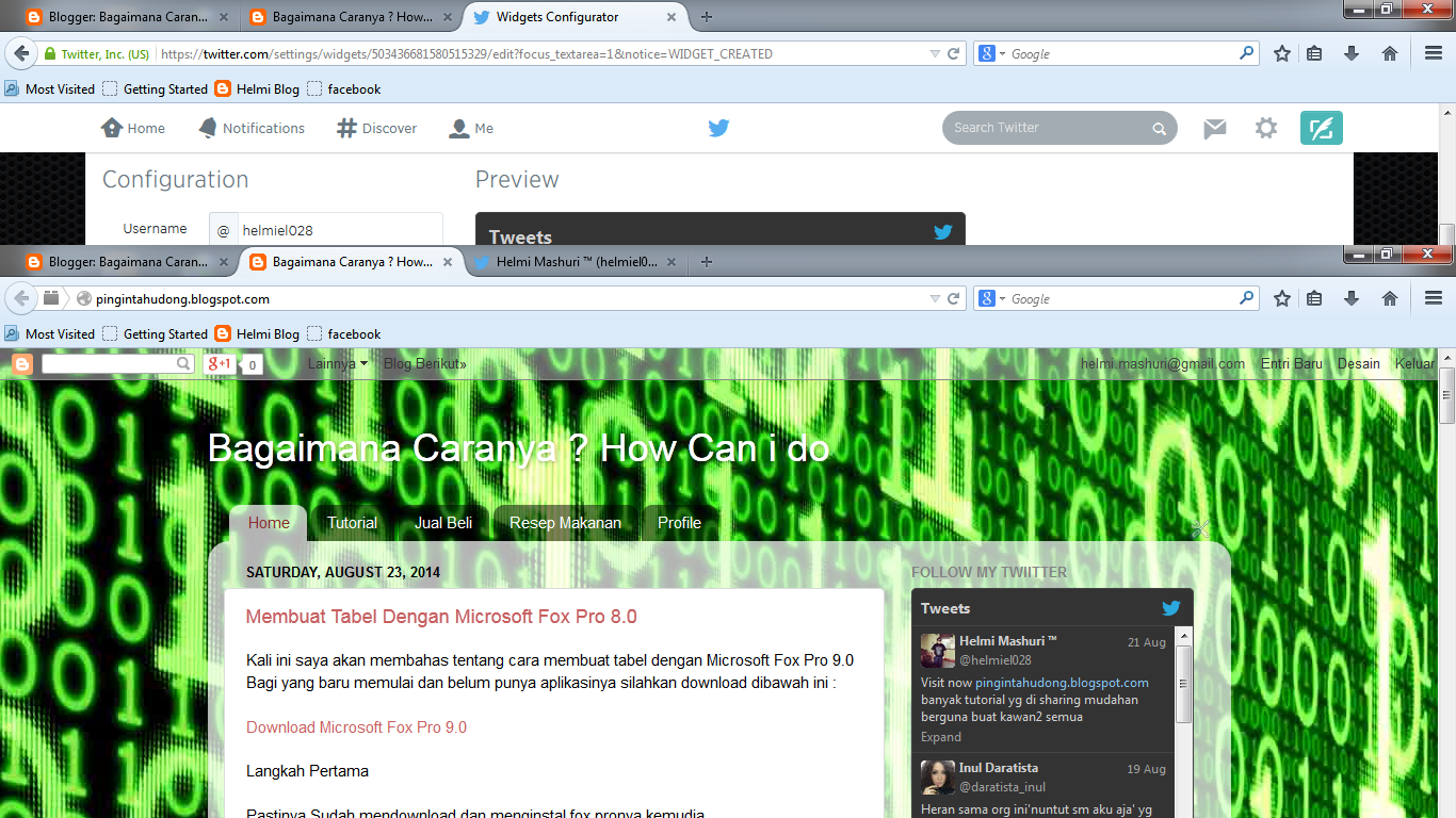 how to create a widget on twitter