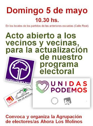 Acto abierto para actualizar nuestro programa electoral