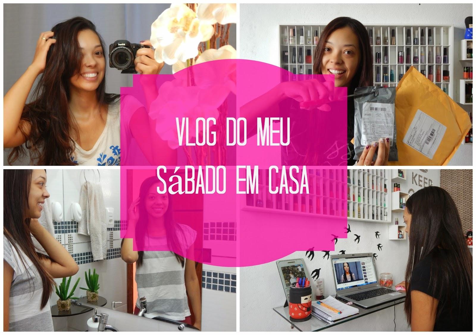 Vlog do meu Sábado em Casa