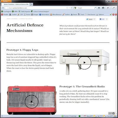 Screen shot of http://objects.jameschambers.co.uk/.