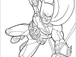 Batman Coloring Pages Spongebob