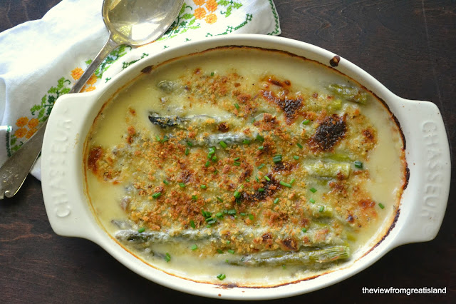 Asparagus Gratin - The View from Great Island