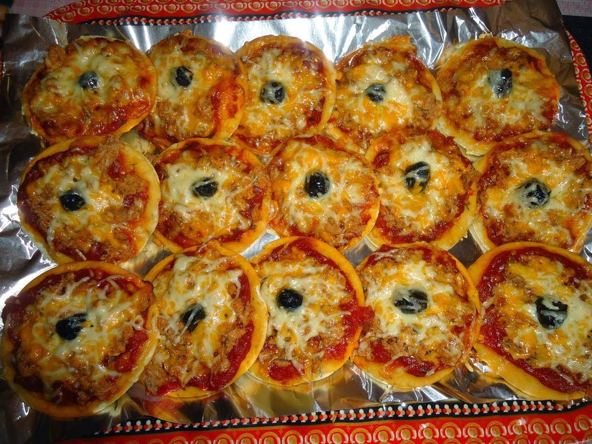 Recette du Mini pizza au Thon et au Fromage