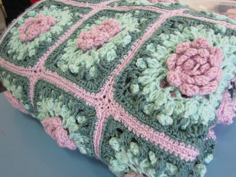 The Craft Group Plus Rose Of Sharon Crochet Blanket By Bev
