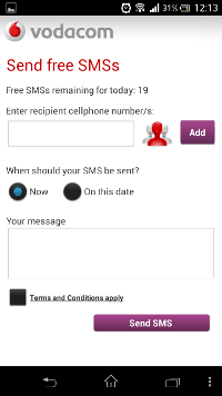 how to get free sms on vodacom